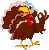 Funny turkey cartoon posing Royalty Free Stock Photo