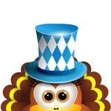 Funny turkey. Oktoberfest Card Design Template.  Stock Photo