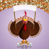 Funny turkey for Thanksgiving Stock Images