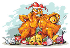 Funny turkey vector illustration