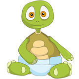 Funny Turtle. Baby. Royalty Free Stock Photography