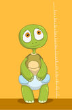 Funny Turtle. Baby Measure. Royalty Free Stock Photo
