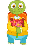 Funny Turtle. Back to school. Cartoon Character Funny Turtle Isolated on White Background. Back to school. Vector EPS 10 Stock Image