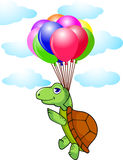 Funny turtle with balloon Royalty Free Stock Photos