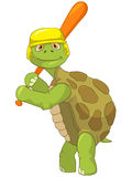 Funny Turtle. Baseball Player. Royalty Free Stock Photo
