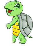 Funny turtle with blank sign Royalty Free Stock Image