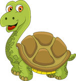 Funny turtle cartoon. Vector illustrationn of funny turtle Royalty Free Stock Image
