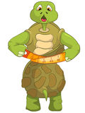 Funny Turtle. Diet. Royalty Free Stock Photography