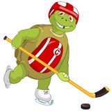 Funny Turtle. Hockey Player. Royalty Free Stock Photos