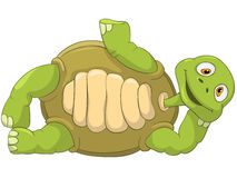 Funny Turtle. Lie. Cartoon Character Funny Turtle Isolated on White Background. Lie. Vector EPS 10 Stock Photos