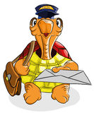Funny turtle postman Royalty Free Stock Images