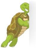 Funny Turtle. Pushing. Stock Image