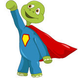 Funny Turtle. Superman. Royalty Free Stock Images