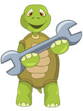 Funny Turtle. Support. Royalty Free Stock Image