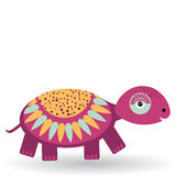 Funny turtle on a white background.  Royalty Free Stock Photo