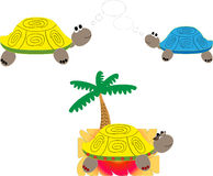 Funny turtles Royalty Free Stock Photography