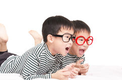 Funny twin Stock Images