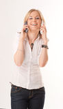 Funny two phone conversation Stock Images