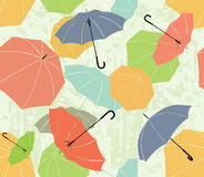 Funny umbrellas. Seamless pattern of umbrellas of different colors Stock Photo
