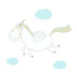 Funny unicorn illustration vector illustration