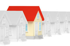Funny unique house standing out from row of houses. Royalty Free Stock Photography