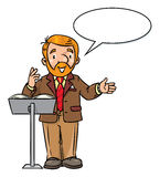 Funny university lecturer or teacher vector illustration