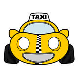 Funny urban taxi Stock Images