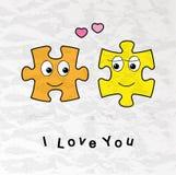 Funny Valentine card Royalty Free Stock Photos