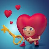 Funny Valentine heart cartoon proposal Royalty Free Stock Photography