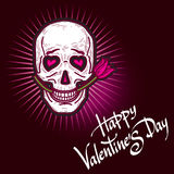 Funny Valentine`s Day card Stock Images