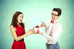 Funny Valentine's Day. Funny Valentine's Day, series of different approaching acts Stock Image