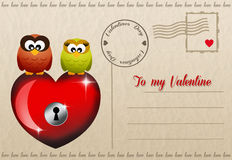 Funny Valentines postcard Royalty Free Stock Photo