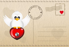 Funny Valentines postcard Royalty Free Stock Photography