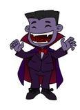 Funny Vampire. Illustration of Little Vampire Smilling Royalty Free Stock Photos