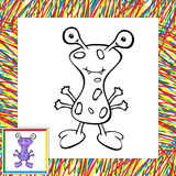 Funny vector alien (first). Coloring book Royalty Free Stock Photos