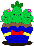 Funny vector cacti Royalty Free Stock Image