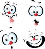 Funny vector cartoon face - grin Stock Image