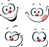 Funny vector cartoon face Stock Photos