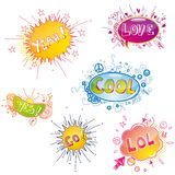 Funny vector doodles Royalty Free Stock Image