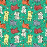 Funny vector kittens Stock Photo