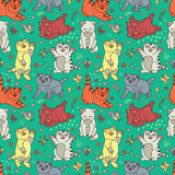 Funny vector kittens Royalty Free Stock Photo