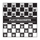 Funny vector poster about beer and draughts Royalty Free Stock Images