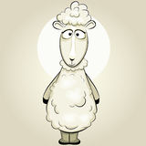 Funny  vector sheep Royalty Free Stock Images