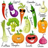 Funny vegetable cartoon isolated Stock Images