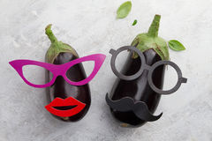 Funny vegetable cute characters face Stock Photo
