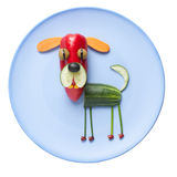 Funny vegetable dog Stock Images