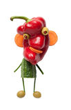 Funny vegetable monster royalty free stock image