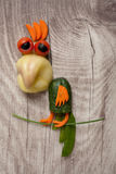 Funny vegetable parrot Royalty Free Stock Images