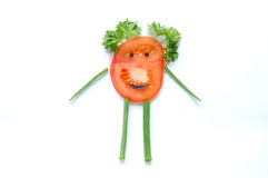 Funny vegetable snack for kids Royalty Free Stock Photos