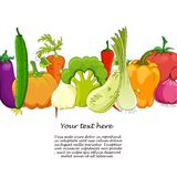 Funny vegetable and spice cartoon on white stock illustration